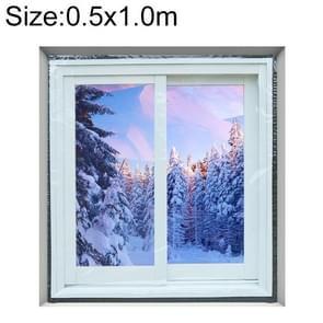 Raam winddichte warme film indoor lucht lekkage geluidsdichte dubbele laag isolatie  specificatie: 0.5x1.0M