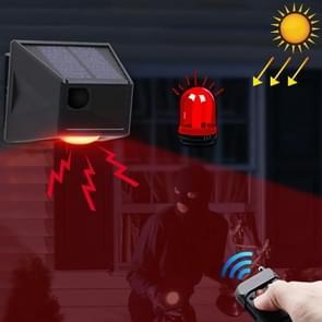 N911F 129dB draadloze afstandsbediening Solar Human Body Inductie Sound Light Alarm