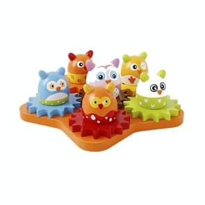 Onshine Houten Mechanische Versnelling Roterende Bouwsteen Kinderen Educatief Speelgoed (Kleurrijke Eieren)