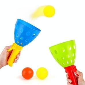 2 Sets Kinderen Speelgoed Katapult Bal Parent-Child Outdoor Bouncy Ball Game Kit  Random Color Delivery (4 Katapulten + 8 ballen)