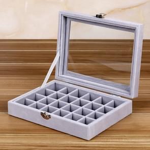 Multifunctionele Flannel Sieraden Doos Sieraden Opslag Display Packaging Box (Grijs 02)