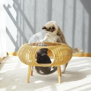Gesloten verwijderbare en wasbare ademende ruimte Capsule Rotan Kattenbakje Starry Sky Cat House