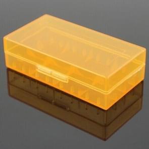 5 PCS Battery Storage Case Plastic Box for 2 x 18650  / 4 x 16340  Batteries(Orange)