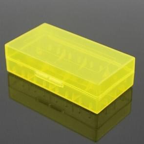 5 PCS Battery Storage Case Plastic Box for 2 x 18650  / 4 x 16340  Batteries(Yellow)