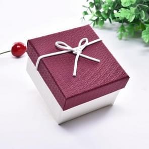 10 PCS Watch Bracelet Box Sieraden Gift Packaging Box  Specificatie: 9x8.5x5.5cm(Rood Wit)