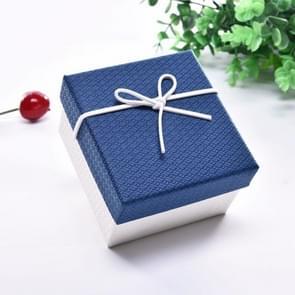 10 PCS Watch Bracelet Box Sieraden Gift Packaging Box  Specificatie: 9x8.5x5.5cm(Blauw Wit)