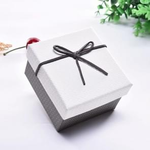10 PCS Watch Bracelet Box Sieraden Gift Packaging Box  Specificatie: 9x8.5x5.5cm (White Grey)