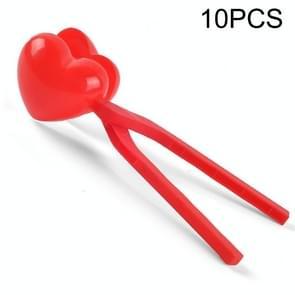 10 PCS Kinderen Winter Outdoor Sneeuwbal Clip Speelgoed Ouder-Kind Sneeuwbal Fight Mold  Stijl: Red Mini Love