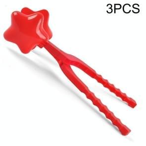 3 PCS Kinderen Winter Outdoor Sneeuwbal Clip Speelgoed Ouder-Kind Sneeuwbal Fight Mold  Stijl: Grote Pentagram
