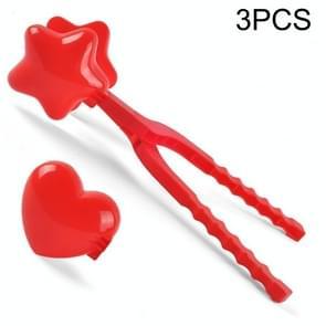 3 PCS Kinderen Winter Outdoor Sneeuwbal Clip Speelgoed Ouder-Kind Sneeuwbal Fight Mold  Stijl: Grote Liefde + Pentagram