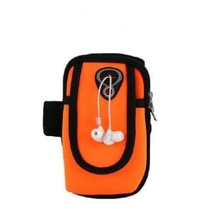 Running Mobile Phone Arm Bag Sports Mobile Phone Arm Sleeve (Orange)