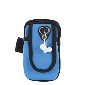 Running Mobile Phone Arm Bag Sports Mobile Phone Arm Sleeve (Lichtblauw)