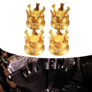4 PCS / Set Motorcycle Modified Crown Engine Screw Decoratieve Cover voor Harley 750 / 883 / 1200 / 72 / X48 (Goud)
