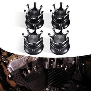 4 PCS / Set Motorcycle Modified Crown Engine Screw Decoratieve Cover Voor Harley 750 / 883 / 1200 / 72 / X48 (Zwart-Wit)