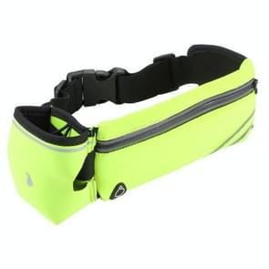 Sport fles belt tas mobiele telefoon belt tas (fluorescerend groen)