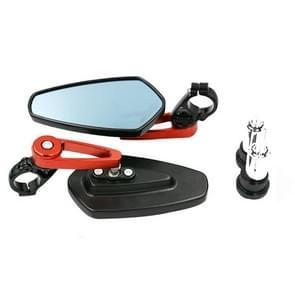 Elektrische fiets motorfiets gewijzigd achteruitkijkspiegel Spiegel alle aluminium reflecterende achteruitkijkspiegel (Rood)