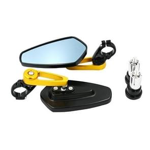 Elektrische fiets motorfiets gewijzigd achteruitkijkspiegel Spiegel alle aluminium reflecterende achteruitkijkspiegel (Gouden)