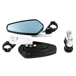 Elektrische fiets motorfiets gewijzigd achteruitkijkspiegel Spiegel alle aluminium reflecterende achteruitkijkspiegel (Zilver)