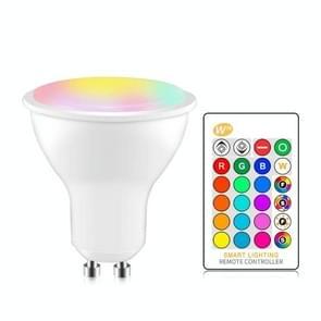 GU10 8W AC85-265V Dimbare LED Spotlight Afstandsbediening Vakantie decoratie huisverlichting (RGB +Cool White (5500-7000K))