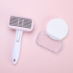 Pet Hair Removal Comb Open Knot Verwijderen Floating Hair Steel Needle Comb (Roze)