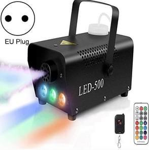 ZQ-B317 500W LED Full Color Afstandsbediening Mist machine kleur rookgenerator stage verlichting bar verlichting  specificatie: EU-stekker