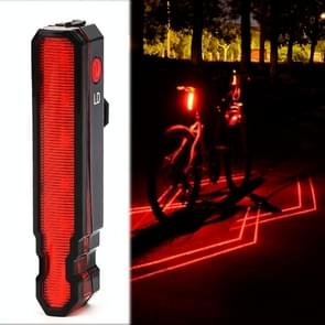 LD51 USB oplaadbare fiets Laser Tail Light Night Riding LED Waarschuwingslicht Outdoor Riding Equipment (Rood licht)