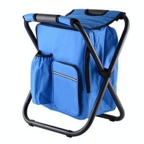 Multifunctionele opvouwbare kruk draagbare ice pack kruk lichtgewicht buitenkruk (blauw)