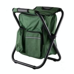 Multifunctionele opvouwbare kruk draagbare ice pack kruk lichtgewicht buitenkruk (groen)