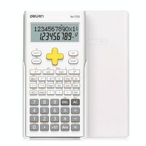 Deli 1700 wetenschappelijke rekenmachine draagbare en schattige student rekenmachine (wit)