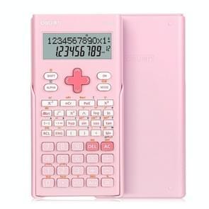 Deli 1700 Wetenschappelijke Rekenmachine Portable en Cute Student Calculator (Roze)