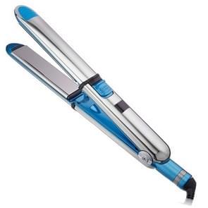 2 in 1 Titanium Hair Straighter Curler Iron(Blue)