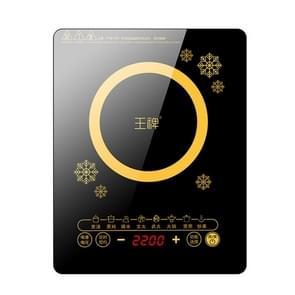 WP Huishouden Kleine Energiebesparende Hot Pot Inductie Cooker Elektrische Countertop Stove  CN Plugs (Petals Gold)