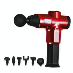 Hishell WK-2020 Electric Massage Gun Muscle Relaxation Charging Massager Portable Fitness Equipment Fascia Gun (Rood)