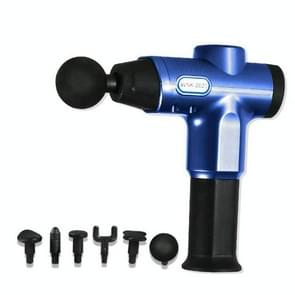 Hishell WK-2020 Electric Massage Gun Muscle Relaxation Charging Massager Portable Fitness Equipment Fascia Gun (Blauw)