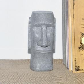 Paaseiland Stone Figuur Piggy Bank Home Standbeeld Decoratie (Grijs)