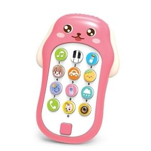 Mini Baby Cartoon Intelligent Early Education Simulation Mobile Phone Toy (Rood)