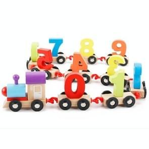 Houten nummer trein speelgoedkinderen voorschoolse educatie ouder-kind interactie speelgoed