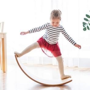 Kinderen Educatieve Sense Integratie Training Wip Sportspel Houten Balans Board Yoga Praktijk Bending Board (Houtkleur)