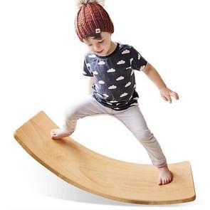 Kinderen Educatieve Sense Integratie Training Wip Sportspel Houten Balans Board Yoga Praktijk Bending Board (Natuurlijke Beuk)