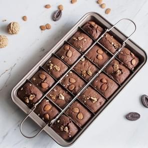 Brownie Pan Cake Mold Square Bread Bakken Dikke Vaste bodem Non-Stick Bakpan