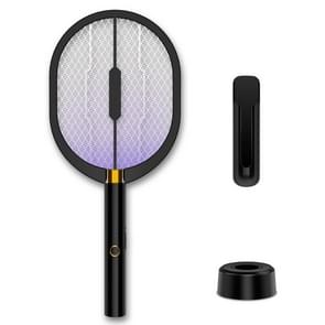 3 in 1 Household Mosquito Trap Mosquito Lamp Electric Mosquito Swatter (Black Base+Wall-mounted+USB Charging)