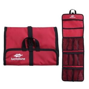 LUCKSTONE Outdoor Klimmen Rope Hook Opslag Zak Klimmen Apparatuur organiseren tas tool bag (rood)