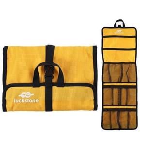 LUCKSTONE Outdoor Klimmen Rope Hook Opslag Zak Klimmen Apparatuur organiseren tas tool bag (Geel)