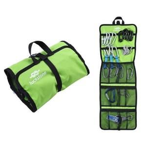 LUCKSTONE Outdoor Klimmen Rope Hook Opslag Zak Klimmen Apparatuur organiseren bag tool bag (Groen)