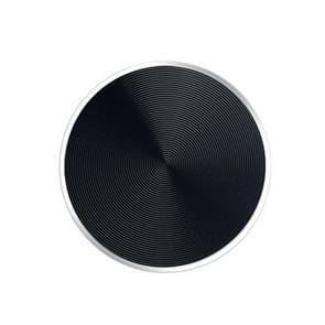 10 PCS CD Textuur Aluminium Aluminium Legering magnetische patch set voor auto telefoon houder  met alcohol katoenen vel en beschermende film (zwart)