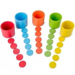 Kinderen Tafelspel Kleur Classificatie Cup Educatief Multifunctioneel Speelgoed