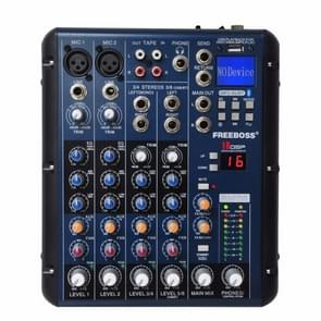 SMR6 Bluetooth USB Record 2 Mono + 2 stereo 6 Channels 3 Band EQ 16 DSP Effect USB Professional Audio Mixer