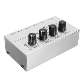 Mini Karaoke audio Mixer4 kanaal lijn mono microfoon geluid mengen versterker voor familie KTV