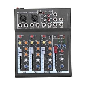 4 kanaals professionele Karaoke audio mixer versterker mini microfoon geluid mengen console met USB 48V Phantom Power Supply
