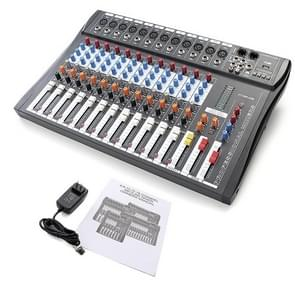 12 Channel Professional Karaoke Audio Mixer Microphone Digital Console Sound Mixing Amplifier with USB 48V Phantom Power